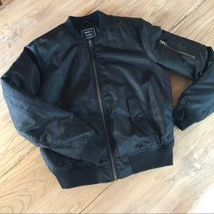 Forever 21 Black Bomber Jacket